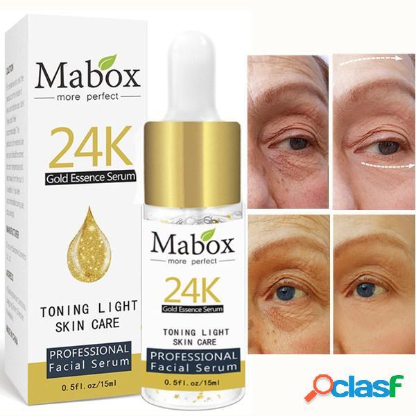 15ml 24k gold essence six peptides essence extracto anti-arrugas reafirmante lifting facial cuidado de la piel