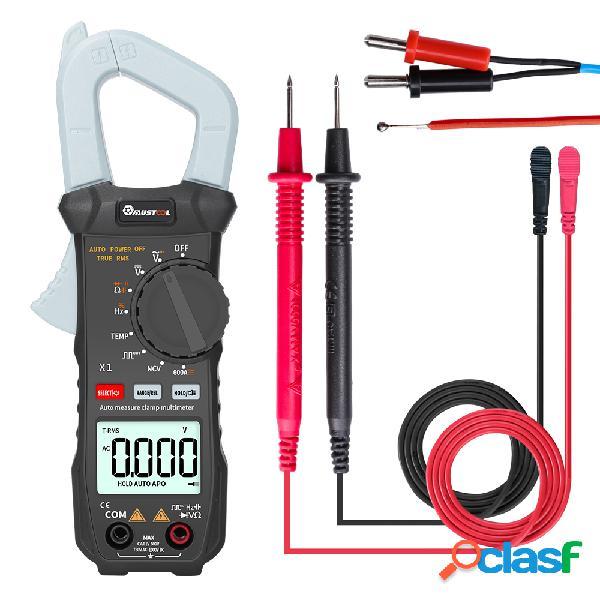 Mustool x1 pocket 6000 counts true rms abrazadera medidor digital multímetro prueba automática de medidor digital