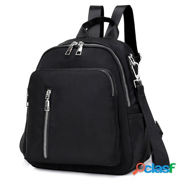Mochila de viaje para mujer nylon impermeable mochila multifunción portátil