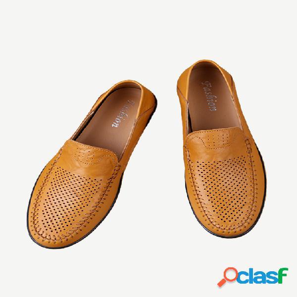 Nuevos zapatos de cuero zapatos de guisantes de temporada para hombres zapatos de hombre de gran tamaño para hombres al aire libre zapatos casuales para hombres