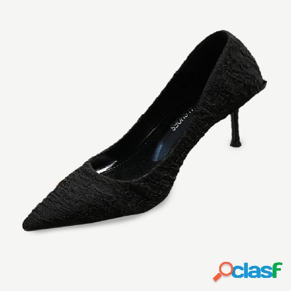 Nuevos zapatos sexis finos de tacón alto para mujer, zapatos de tacón de aguja con punta de boca baja, zapatos individuales de moda para mujer