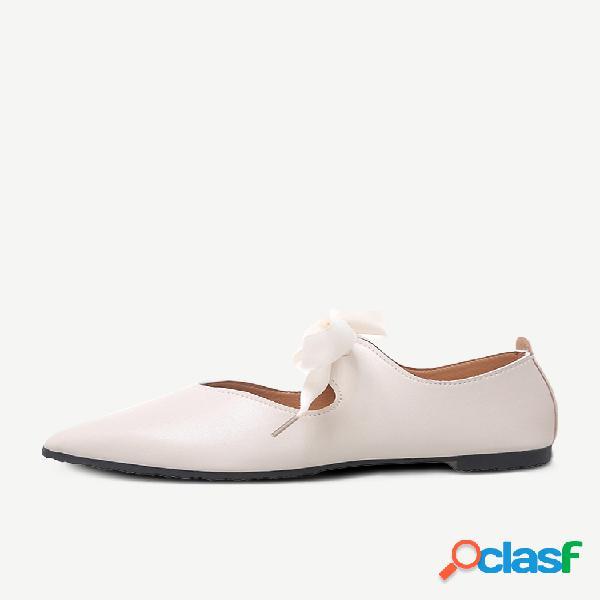 Zapatos individuales puntiagudos para mujer nuevos zapatos casuales de guisantes planos zapatos de trabajo de boca poco profunda one foot squat mujer zapatos