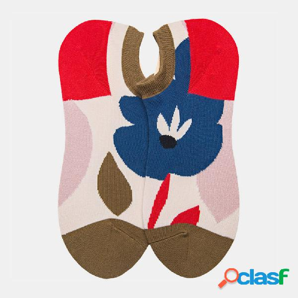 Calcetines hombre calcetines barco calcetines algodón estilo retro literario mujer calcetines street trend