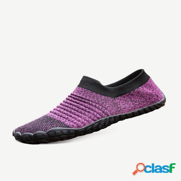 Tallas grandes para mujer, cómodo, transpirable, al aire libre, atlético, sin cordones, calcetines