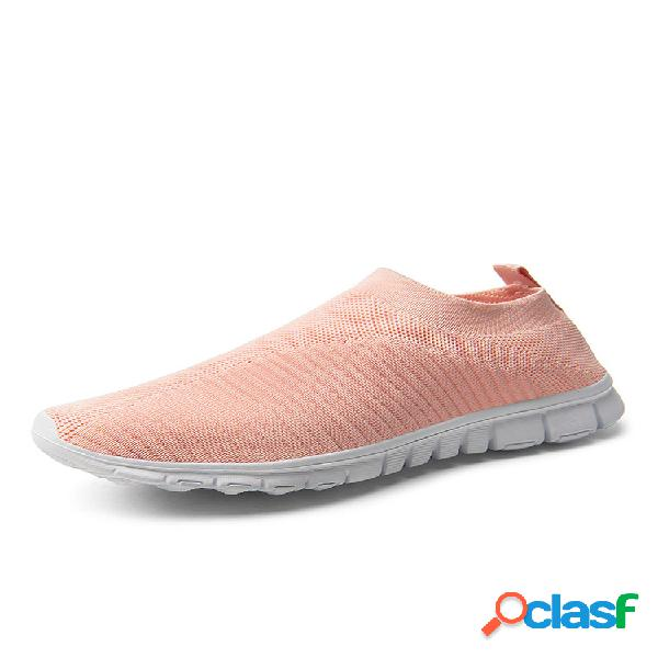 Calcetines deportivos para caminar de punto elásticos banda transpirables casuales para mujer