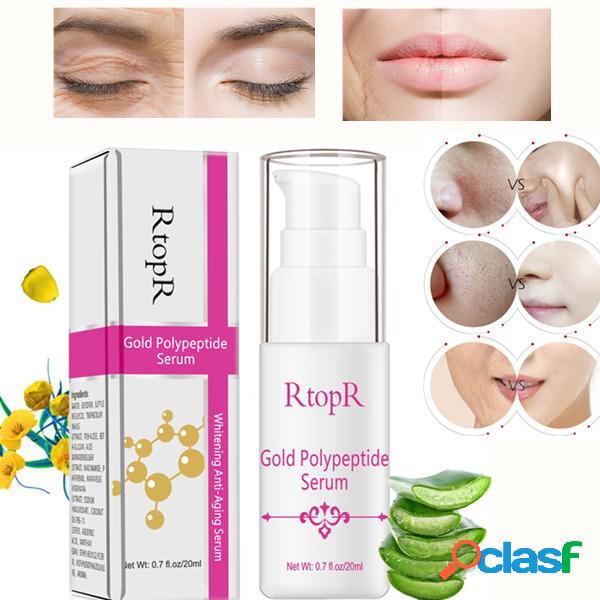 Polipéptido de oro face essence hidratante blanqueamiento reparación de la piel antienvejecimiento esencia cuidado de la cara