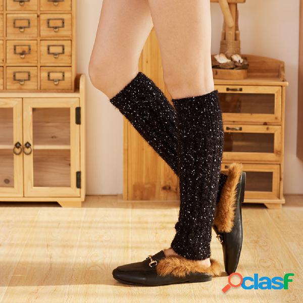 Compresión para mujer calcetines tubo corto calcetines tejido de lana de cachemira botas calcetines