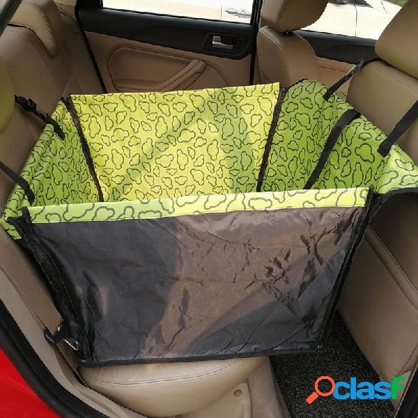 Pet impermeable coche asiento trasero trasero coche funda protectora de manta hamaca para perro gato