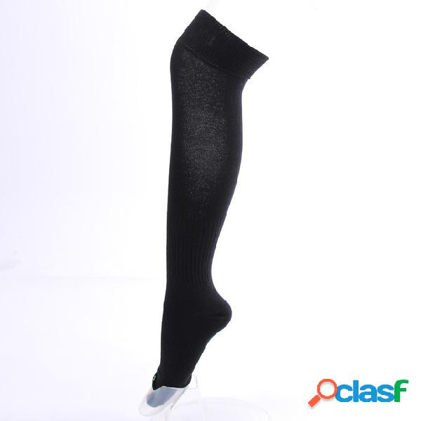 Hombres y mujer esquí calcetines baloncesto fútbol absorbente de sudor algodón cálido alto tubo largo rodilla calcetines