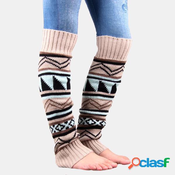 Lana gruesa de camuflaje para mujer calcetines compresión de impresión femenina calcetines