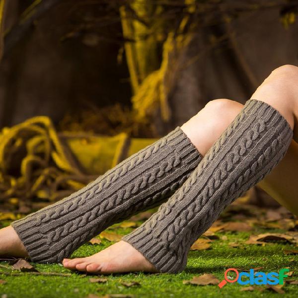 Tejidos calcetines conjuntos de piernas calientes largos calcetines