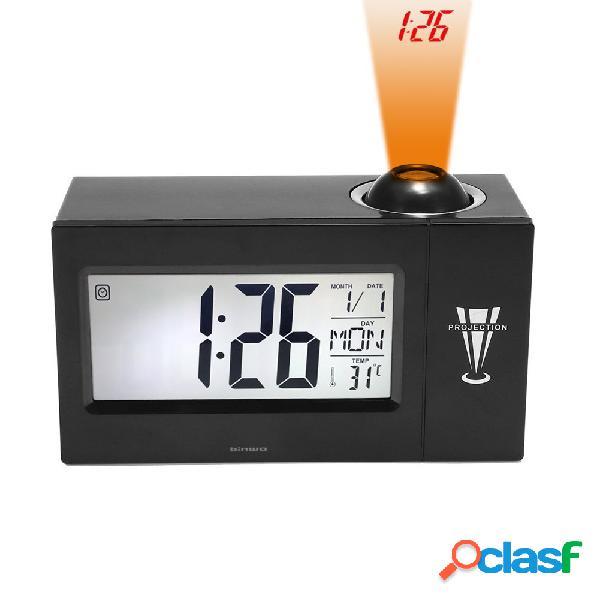 """Reloj despertador digital con reloj de cabecera y reloj despertador de 4 """"con pantalla led grande de 4"""" para el témpera de la fecha del día"""
