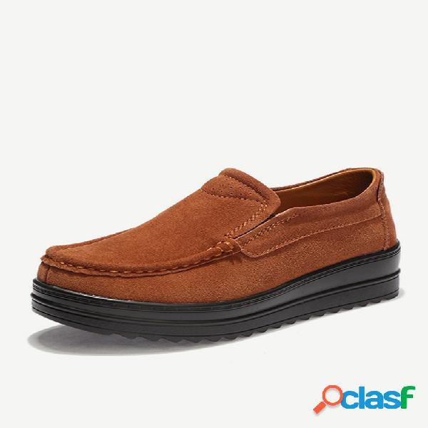Zapatos casuales con plataforma de cuero de vaca