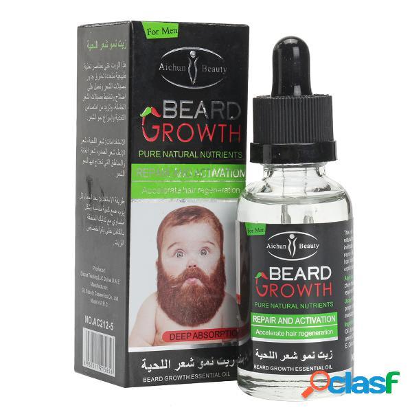 Barba orgánica natural oil cera de bálsamo cabello acondicionador de pérdida para el crecimiento de la barba 40 ml