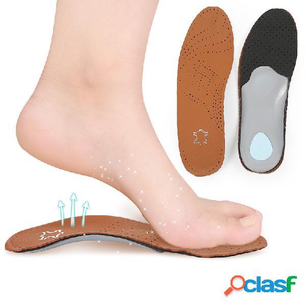 1 par pies planos corrector pad arch orthotic insoles sport leisure shock absorption pad cuidado de los pies