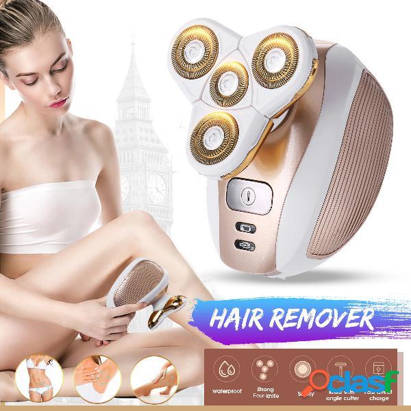 4 cabezales de corte mujer eléctrico cabello extractor 4d flotante usb recargable brazo frontal pierna depiladora sin dolor