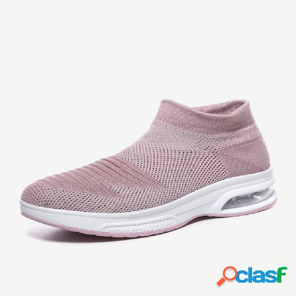 Mujer calcetines informales acolchados de malla transpirable para caminar