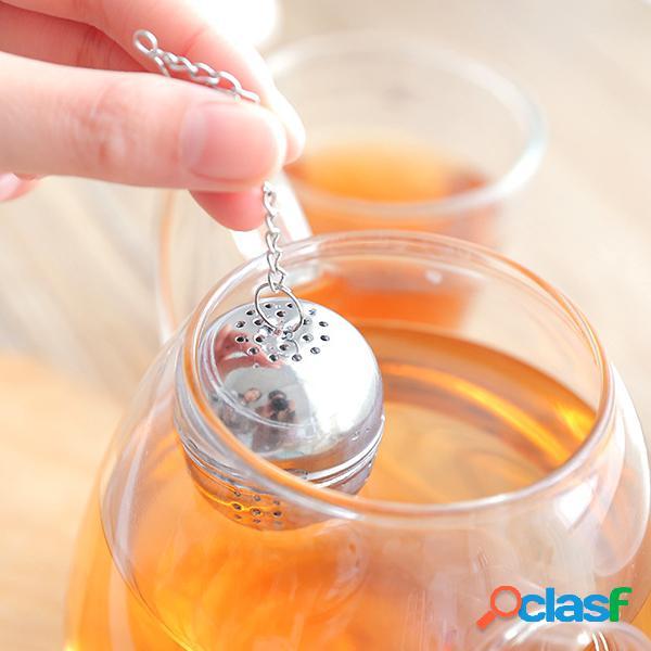 4.5 * 4cm 1671 sopa de acero inoxidable té bola de condimento bola de especias para olla caliente té bola