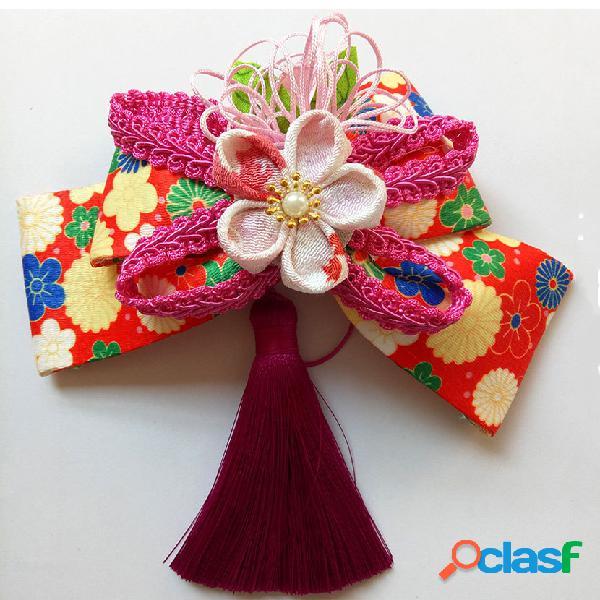 Lazo de accesorios para el cabello de kimono hecho a mano