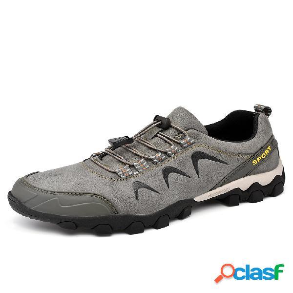 Hombre al aire libre impermeable antideslizante para vestir soft zapatillas de senderismo informales con suela