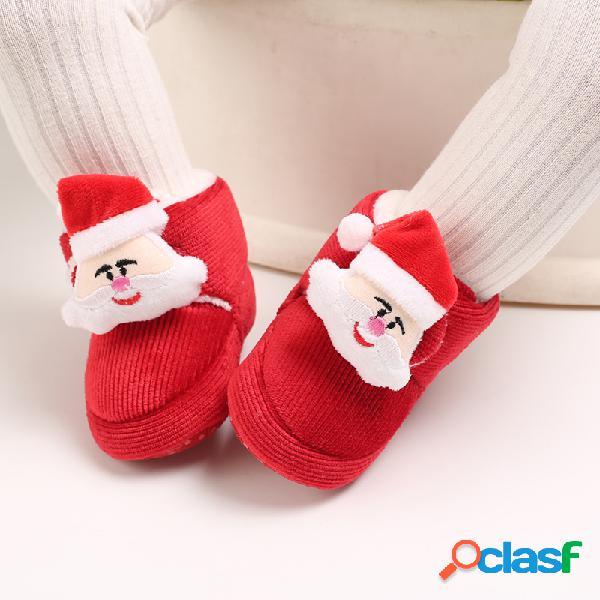 Zapatos de bebé para niños pequeños decoración de personaje de dibujos animados lindo cálido soft nieve botas