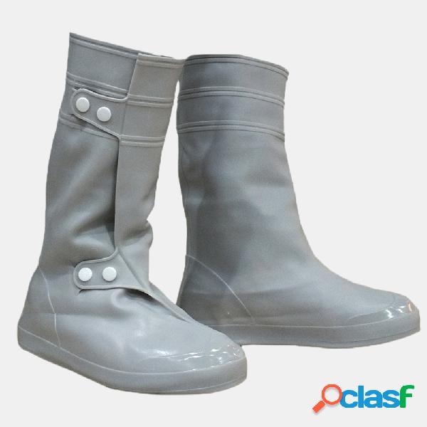 Cloruro de polivinilo mujer hombre rain shoes cover impermeable rain antideslizante high botas flats