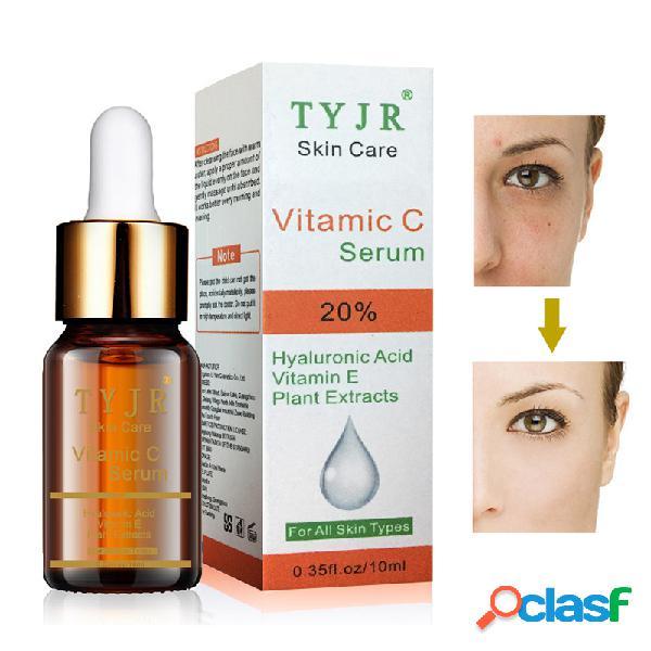 Esencia de ácido hialurónico de vitamina c nutre la rejuvenecimiento de la piel blanqueadora solución de pecas antienvejecimiento