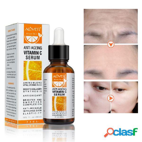 Vitamina c esencia blanqueadora esencia hidratante profunda anti acné aclarece el tono de la piel cuidado de la cara