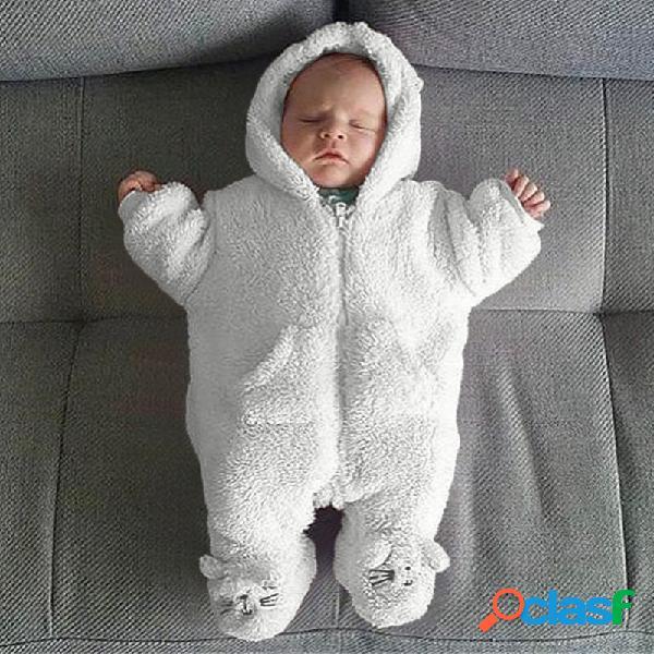 Blanco bebé soft dormir bolsa cálido y terciopelo para 0-24m