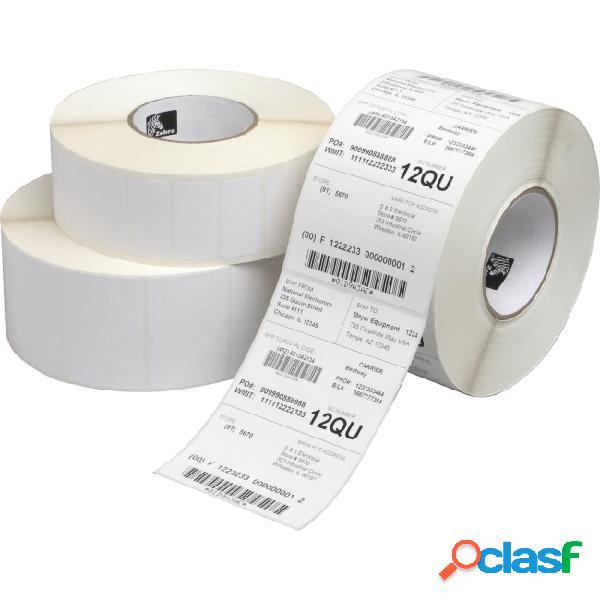 "Zebra rollo de etiquetas z-select 4000d, 2.25"" x 1.25"", 2100 etiquetas, blanco, 1 rollo"