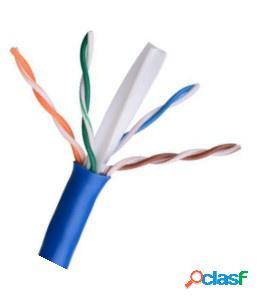 Saxxon bobina de cable 305 metros utp, 305 metros, azul