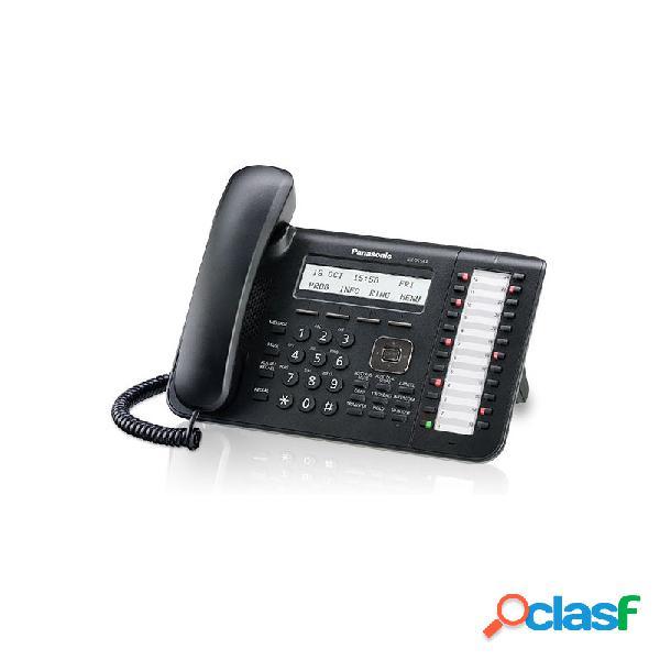 Panasonic teléfono alámbrico de 3 líneas kx-dt543x-b, altavoz, negro