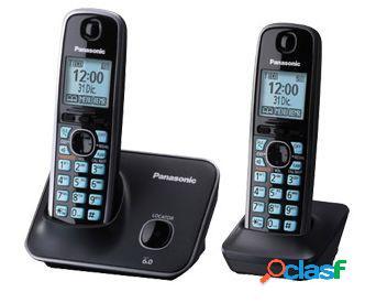 Panasonic teléfono dect con pantalla lcd de 1.8'', inalámbrico - incluye 2 auriculares