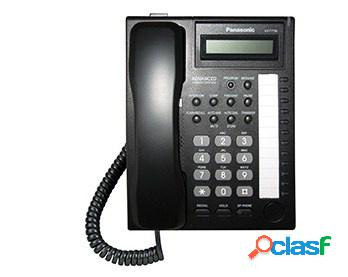 Panasonic teléfono propietario análogo kx-t7730x, con 12 botones programables, manos libres, negro