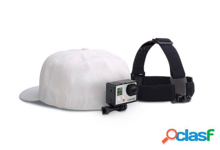 Gopro soporte de cámara ajustable para cabeza, negro