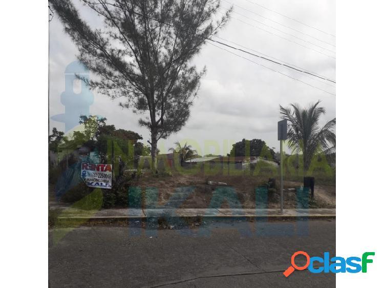 Renta terreno 1100 m² col. anahuac tuxpan veracruz, anáhuac