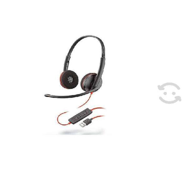 Audifonos plantronics c3220 usb-a negro usb diadem