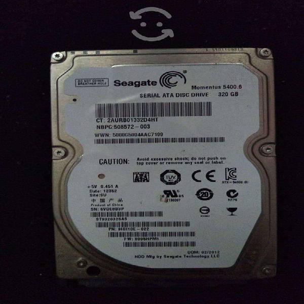 Dos discos duros, 400 gb y 250 gb, ambos seagate