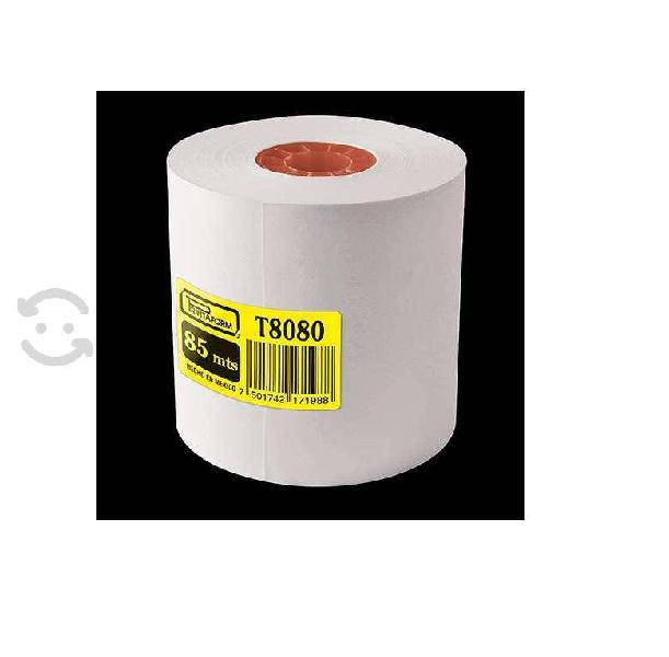 Rollo de papel pcm t8080 color blanco caja 50pz im