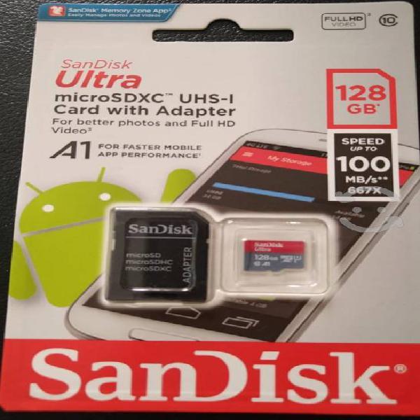 Memoria micro sd 128 gb sandisk ultra