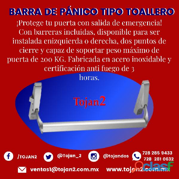 BARRA DE PÁNICO TIPO TOALLERO