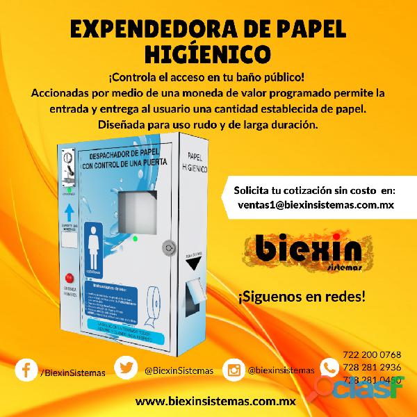 EXPENDEDORA DE PAPEL HIGÍENICO