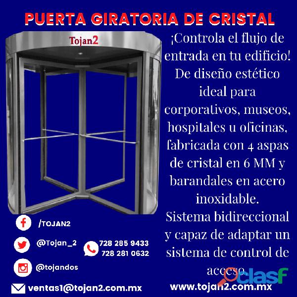 PUERTA GIRATORIA DE CRISTAL 6MM