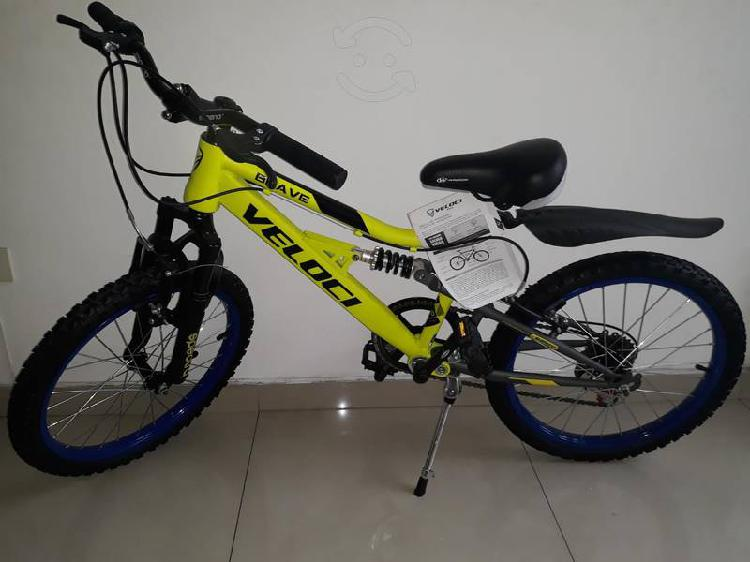 Bicicleta veloci brave r20 nueva