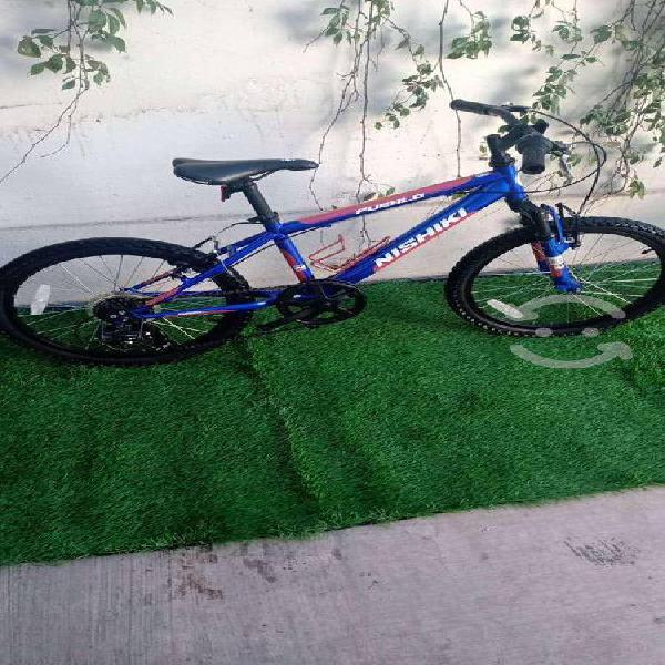 Bicicleta montaña r 20 con susp y cambios