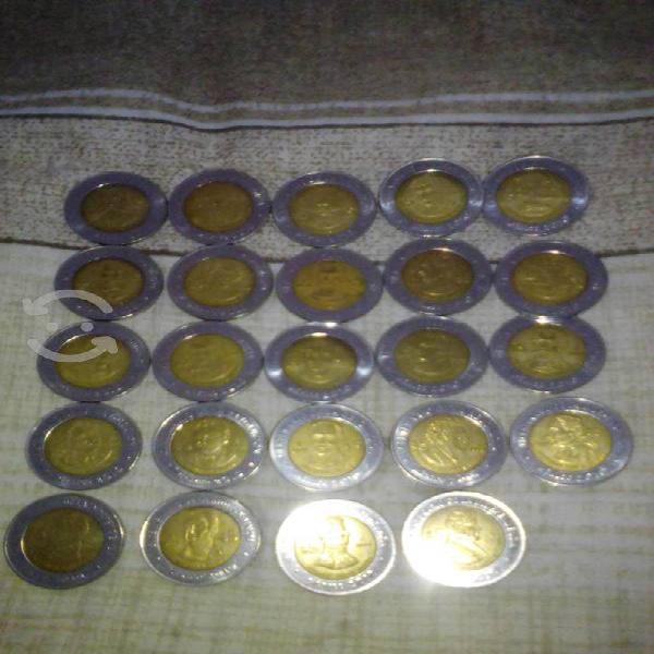 Coleccion de monedas conmemorativas de 5 pesos