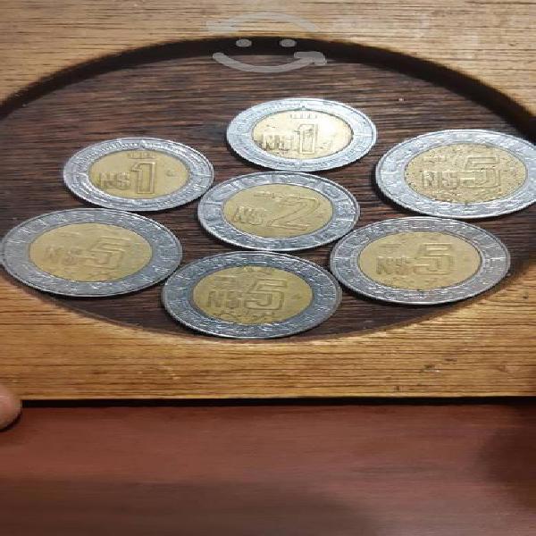 Colección monedas nuevos pesos