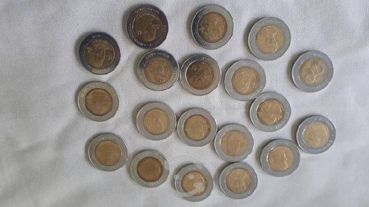 Monedas de $5 del bicentenario y centenario