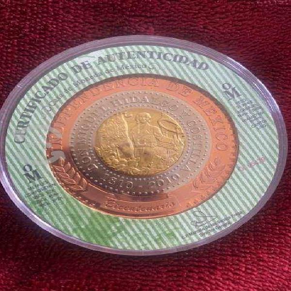 Moneda trimetalica conmemorativa del bicentenario