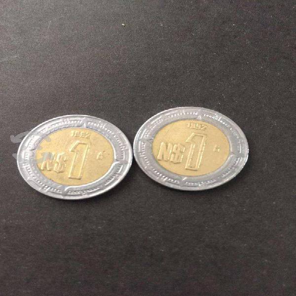Monedas $1 nuevos pesos. año 1992,1993,1994,1995